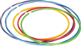 Hula Hoop ca. 80 cm, farblich gestreift
