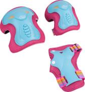 Hudora Protektorenset Skate Wonders, Gr. M, türkis/pink