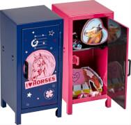 Die Spiegelburg - Pferdefreunde Mini-Spind, ca. 8 x 17,5 x 8 cm, pink, blau, aus Metall, sortiert